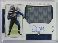 2019 National Treasures RPA DK Metcalf autograph auto patch rc #D42/99 *81138