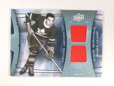 2009-10 UD Artifacts Frozen Dual Jersey Frank Mahovlich #d16/25 blue *45709