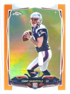 2014 Topps Chrome Orange Rfractor Jimmy Garoppolo rc rookie #150 *80941