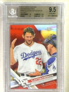 2017 Topps Chrome Red Refractor Clayton Kershaw Variation #4/5 BGS 9.5 *84238