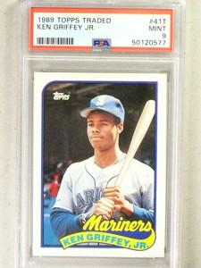 1989 Topps Traded Ken Griffey Jr. rc rookie #41T PSA 9 MINT *84143