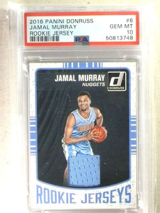 2016-17 Donruss Rookies Jerseys Jamal Murray rc rookie jersey PSA 10 *84103