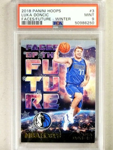 2018-19 Panini Hoops Faces Future Winter Luka Doncic rc rookie #3 PSA 9 *84127
