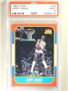 1986-87 Fleer Larry Nance rc rookie #78 PSA 9 MINT *84158