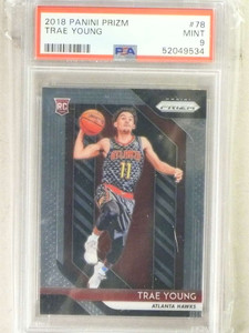 2018-19 Panini Prizm Trae Young rc rookie #78 PSA 9 MINT *84243