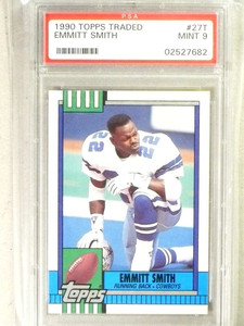 1990 Topps Traded Emmitt Smith rc rookie #27T PSA 9 MINT *84130