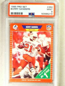 1989 Pro Set Barry Sanders rc rookie #494 PSA 9 MINT *84167