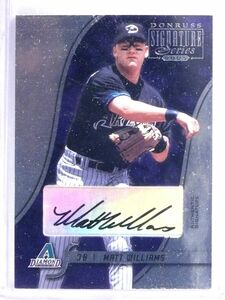 2003 Donruss Signature Matt Williams Autograph #7 *63060