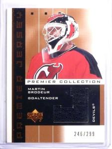 2002-03 UD Premier Collection Bronze Martin Brodeur Jersey #D246/299 #PPMB *5991