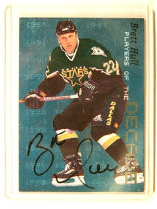 99-00 Be A Player BAP Decade Brett Hull auto autograph #D57/1000 #D-8 sp/80 *413