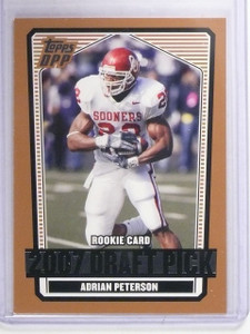 2007 Topps Draft Picks & Prospects Adrian Peterson Rookie RC #135 *64689
