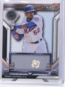 2016 Topps Strata Clearly Authentic Yoenis Cespedes Jersey #CARYC *64783