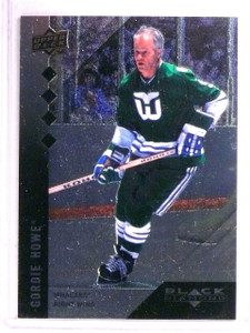 2009-10 UD Black Diamond Gordie Howe #200 Quadruple Diamond *66697