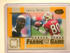 1999 Leaf Certified Fabric Of The game jerry Rice #D99/100 #FG53 *41545
