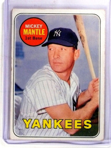 1969 Topps Mickey Mantle Yankees #500 VG *57396