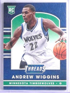 2014-15 Panini Threads Leather Andrew Wiggins Rookie RC #253 *65994