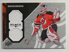 11-12 Upper Deck Black Diamond Martin Brodeur dual jersey  *38523