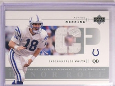 2002 Upper Deck Honor Roll Clutch Performers Peyton Manning Jersey #CPPM *66944