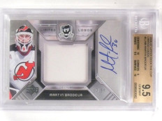2006-07 UD The Cup Limited Logos Martin Brodeur autograph patch /50 BGS 9.5 *563