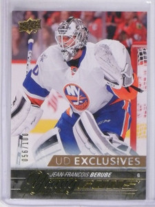 2015-16 Upper Deck Jean-Francois Berube Exclusives Gold RC Young Guns /100 *5655
