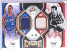 2009-10 UD SP Game Used Combo Theus Nick Young Dual Patch #D82/99 #CPTY *65965