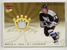 05-06 Fleer Ultra Scoring Kings Martin St. Louis 2clr patch #D07/50 *28631