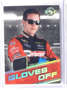 2011 Wheels Gloves Off Trevor Bayne race used glove #D14/25 #GO-TB *36187
