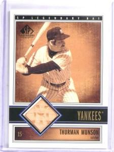2002 SP Legendary Cuts Thurman Thomas Game Used Bat #BTMU *58056