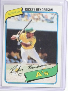 1980 Topps Rickey Henderson Rookie RC #482 Exmt *60537