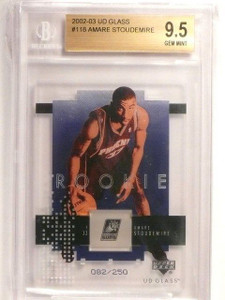 02-03 Upper Deck UD Glass Amare Stoudemire rc rookie #D82/250 BGS 9.5 GEM *45021
