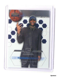 02-03 Topps Finest Carmelo Anthony rc rookie XRC #180 *43617