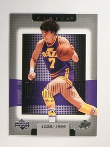 03-04 Upper Deck Finite Pete Maravich #D1025/1999 #188 *52016