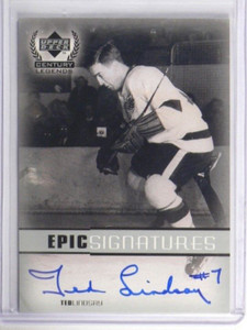 99-00 Upper Deck Century legends Epic Signatures Ted Lindsay auto autograph *338