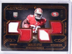 2014 Topps Museum Carlos Hyde Rookie Quad Jersey Patch #D28/50 #RQRCH  *61115