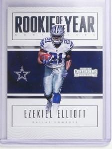 2016 Panini Contenders ROY Rookie of the year Ezekiel Elliott Rookie RC #1 *6468