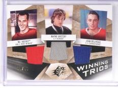 08-09 SPX Winning Gordie Howe Wayne Gretzky & Beliveau jersey #D95/99 *49306