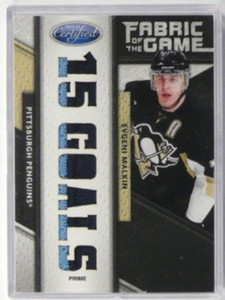 11-12 Certified Fabric of The Game FOTG Evgeni Malkin 2clr patch #D1/5 *32741