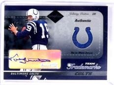 2003 Leaf Limited Team Trademarks Johnny Unitas autograph auto jersey #D1/5 *573