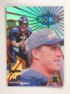 1998 Collector's Edge Super Bowl Proof John Elway Hand Numbered #D6/29  *45063