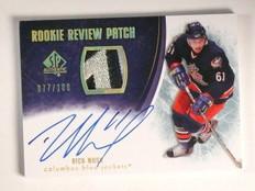 07-08 Sp Authentic Rookie Review Rick Nash autograph auto patch #D77/100 *45095