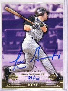 2004 Sp Authentic Buyback Luis Gonzalez auto autograph #D39/40 *26935