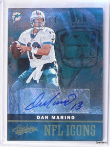 2012 Panini Absolute NFL Icons Dan Marino autograph auto #D06/25 #9 *42576