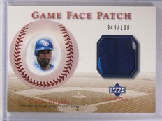 2003 Upper Deck Game Face Patch Carlos Delgado #D049/100 #GPCD  *61492