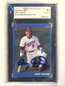 Gary Carter Signed Autograph auto SGC Authentic Slabbed *48627