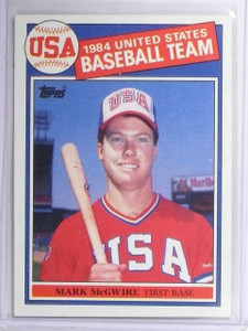 1985 Topps Mark McGwire Rookie RC OLY Olympic #401 *60779