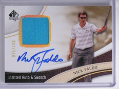 2014 SP Authentic Limited Nick Faldo Shirt Autograph #D075/100 #19 *65650
