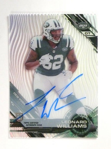 2015 Topps High Tek Leonard Williams autograph auto rc rookie #107 *51927