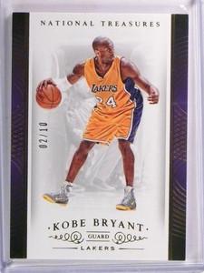 14-15 Panini National Treasures Gold parallel Kobe Bryant #D02/10 #12 *53543