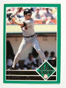 1992 Fleer Team Leaders Cal Ripken Jr. #17of20 *30573