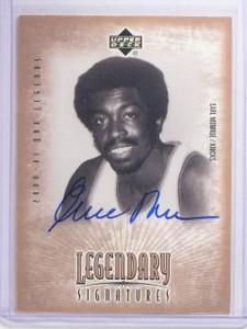 2000 Upper Deck Legends Legendary Signatures Earl Monroe Autograph  auto *64212
